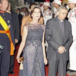 Carolina de Mónaco en la cena de gala tras la boda real en Mónaco