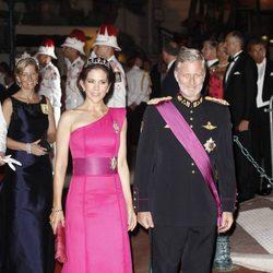 María de Dinamarca y Felipe de Bélgica en la cena de gala tras la boda real