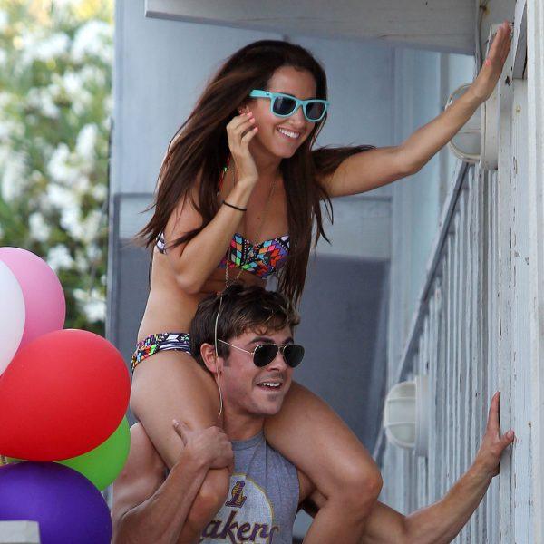 Zac Efron y Ashley Tisdale, cariñosos en el cumpleaños de la joven