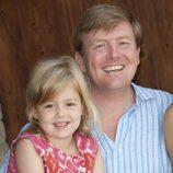 Guillermo de Holanda y su hija Alexia durante sus vacaciones en Italia