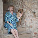 La Reina Beatriz de Holanda durante sus vacaciones en Italia