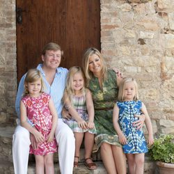 Guillermo y Máxima de Holanda junto a sus tres hijas de vacaciones en Italia