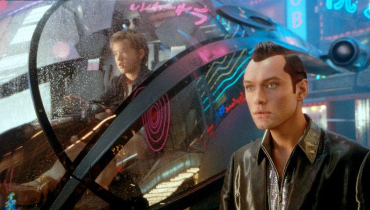 Jude Law y Haley Joel Osment en un momento de la película 'Inteligencia Artificial'