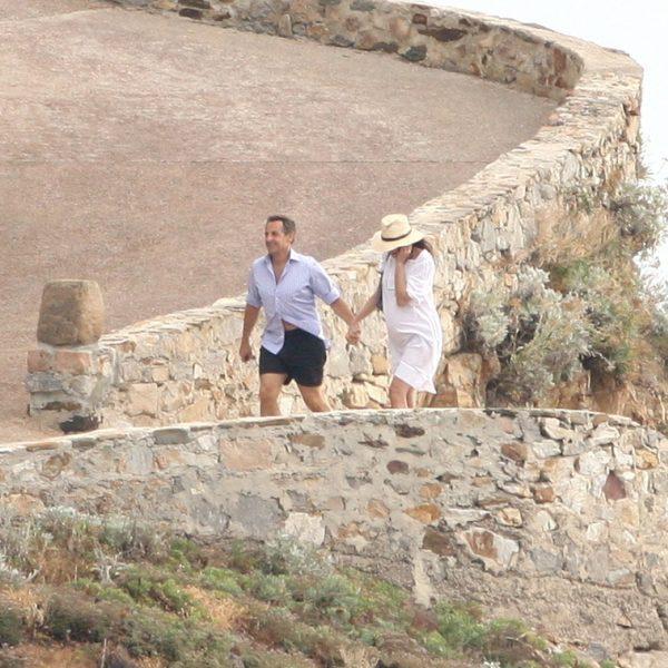 Nicolas Sarkozy y Carla Bruni, vacaciones en la Costa Azul