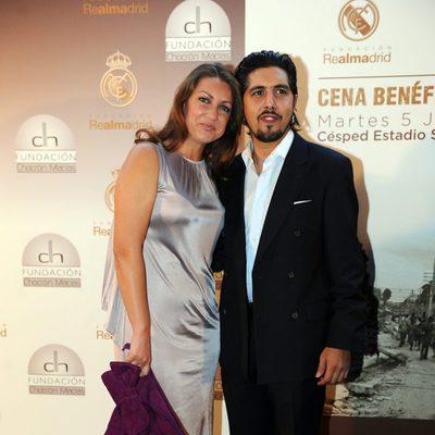 Niña Pastori en la cena benéfica por Haití del Real Madrid