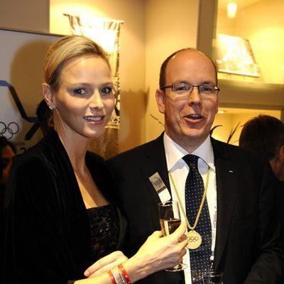 Alberto y Charlene de Mónaco en la reunión del COI en Sudáfrica