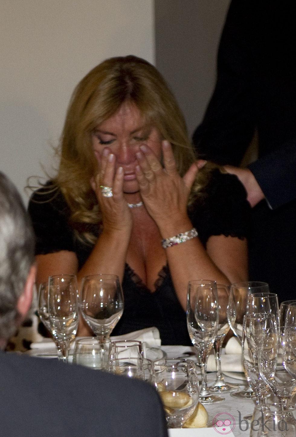 Norma Duval llorando en los Premios Estrella de Oro