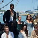 Hugo Silva, Ingrid Rubio, Álvaro Cervantes y Clara Lago en 'El corazón del océano'