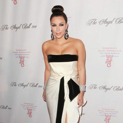 Kim Kardashian en la gala 'Angel Ball' contra el cáncer en Nueva York