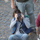 Emile Hirsch realiza fotografías en el rodaje de 'Venuto al mondo' en Roma