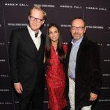 Demi Moore, Paul Bettany y Kevin Spacey en la premiere de 'Margin Call' en Nueva York
