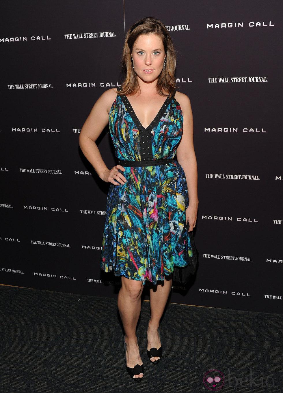 Ashley Williams en la premiere de 'Margin Call' en Nueva York