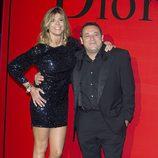 Arancha de Benito y Pepón Nieto en la fiesta Dior