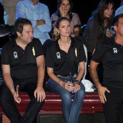 Jordi Hereu, Judit Mascó y Joan Laporta en un acto solidario en Barcelona