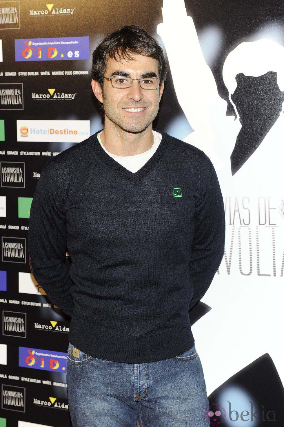 Daniel Muriel en el estreno de 'Las novias de Travolta'