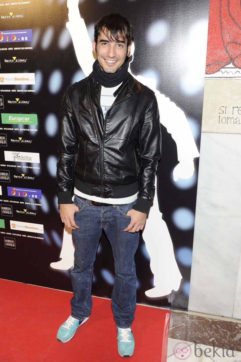 Israel Rodríguez en el estreno de 'Las novias de Travolta'