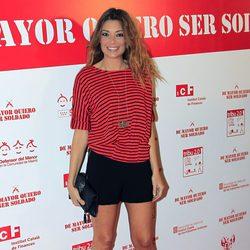 Lucía Hoyos en el estreno de 'De mayor quiero ser soldado'