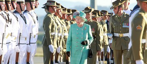 Isabel II de Inglaterra en su visita a Australia