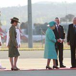 La reina de Inglaterra en su visita a Australia