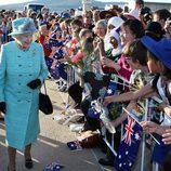 Isabel II en su visita oficial Australia