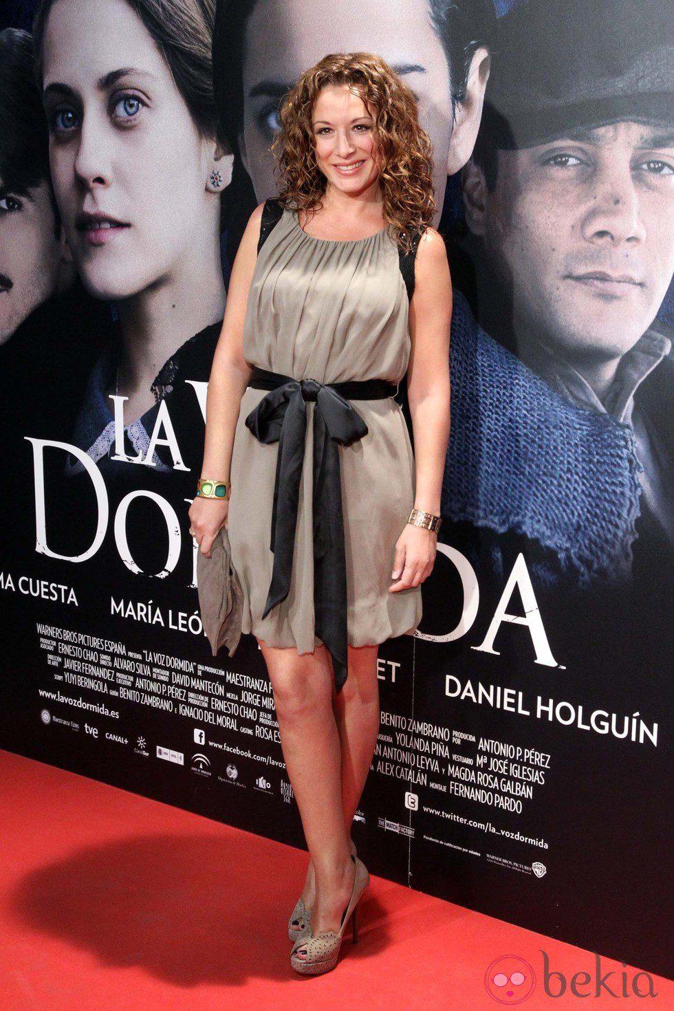 Cristina Marcos en el estreno de \'La voz dormida\' en Madrid ...