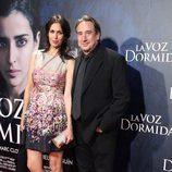 Juanjo Puigcorbé y Lola Marceli en el estreno de 'La voz dormida' en Madrid