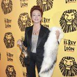 Paloma San Basilio en el estreno del musical 'El Rey León' en Madrid
