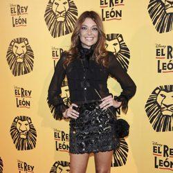 Lucía Hoyos en el estreno del musical 'El Rey León' en Madrid