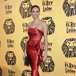 Juncal Rivero en el estreno del musical 'El Rey León' en Madrid