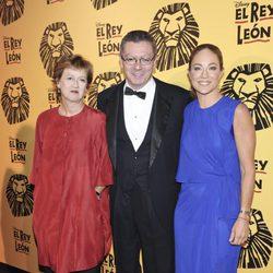 Alberto Ruiz Gallardón en el estreno del musical 'El Rey León' en Madrid