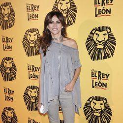 Goya Toledo en el estreno del musical 'El Rey León' en Madrid
