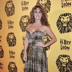 Miriam Díaz Aroca en el estreno del musical 'El Rey León' en Madrid
