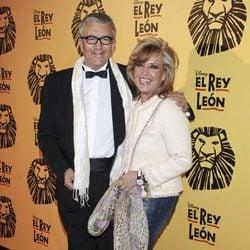 Paco Valladares y Lydia Lozano en el estreno del musical 'El Rey León' en Madrid