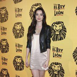 Dafne Fernández en el estreno del musical 'El Rey León' en Madrid