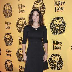 Isabel Serrano en el estreno del musical 'El Rey León' en Madrid
