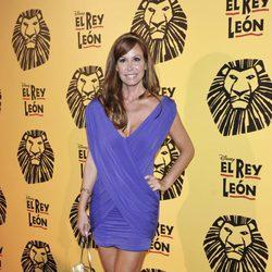 Lara Dibildos en el estreno del musical 'El Rey León' en Madrid