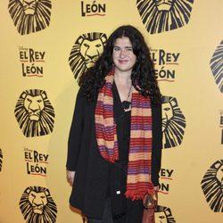 Lucía Extebarría en el estreno del musical 'El Rey León' en Madrid