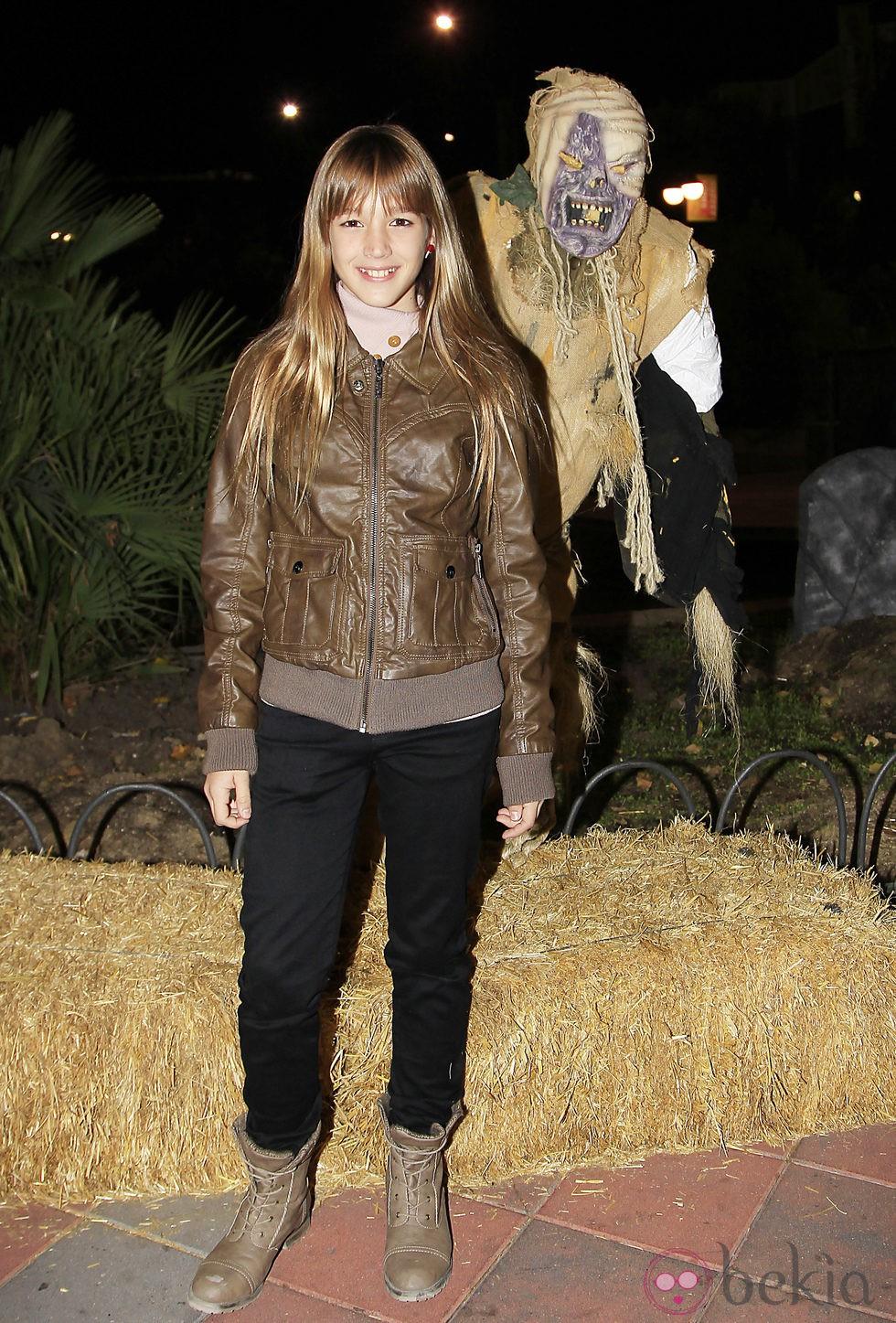 Carla Campra en la fiesta de Halloween del Parque de Atracciones de Madrid