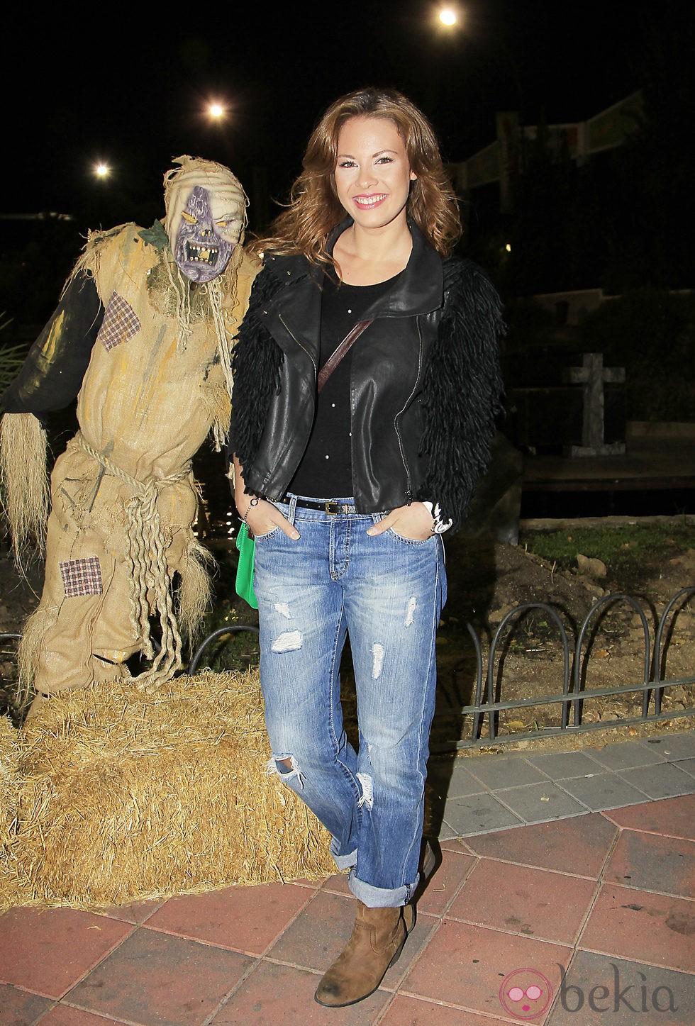 Jessica Bueno en la fiesta de Halloween del Parque de Atracciones de Madrid