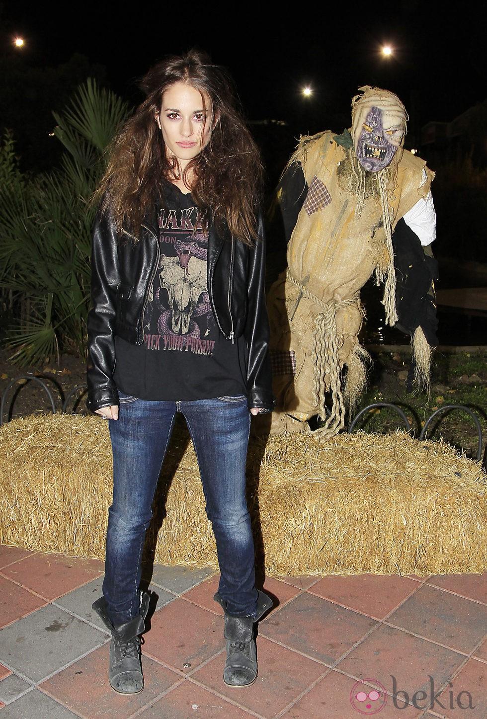 Silvia Alonso en la fiesta de Halloween del Parque de Atracciones de Madrid