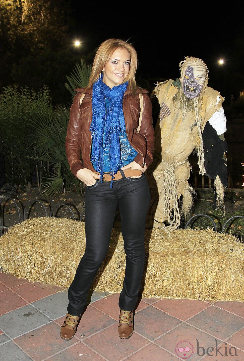 Beatriz Trapote en la fiesta de Halloween del Parque de Atracciones de Madrid