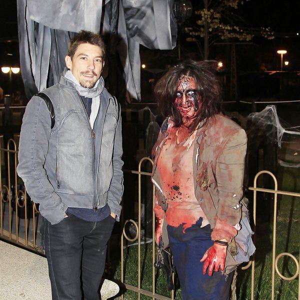 Famosos en la fiesta de Halloween en el Parque de Atracciones de Madrid