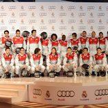 Todo el equipo del Real Madrid en el acto promocional de 'Audi'