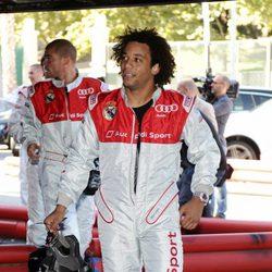 Marcelo durante el acto promocional de Audi en los karts
