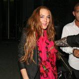 Lindsay Lohan camina borracha por Londres