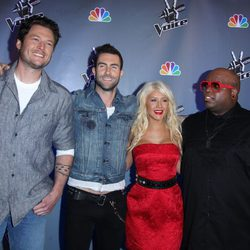 Christina Aguilera y el resto del jurado de 'The Voice'