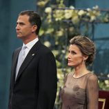 Don Felipe y doña Letizia en la ceremonia de los Premios Príncipe de Asturias 2011