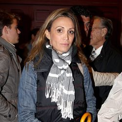 La torero Cristina Sánchez acompañando a la familia de Antoñete