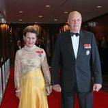 Los Reyes Harald y Sonia de Noruega en los 100 años de la Fundación Américo-Escandinava