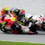 Accidente de Marco Simoncelli en el circuito de Sepang
